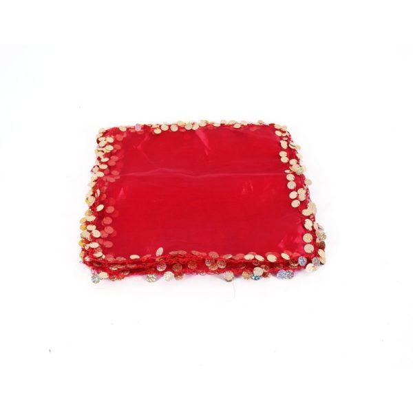 Büyük Pullu Kırmızı Halay Mendili