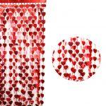 Kalpli Kırmızı Kapı Perdesi