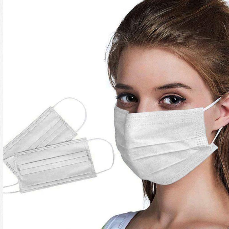 3 Katlı Cerrahi Maske Telli Kaliteli Virüs Maskesi 50'li