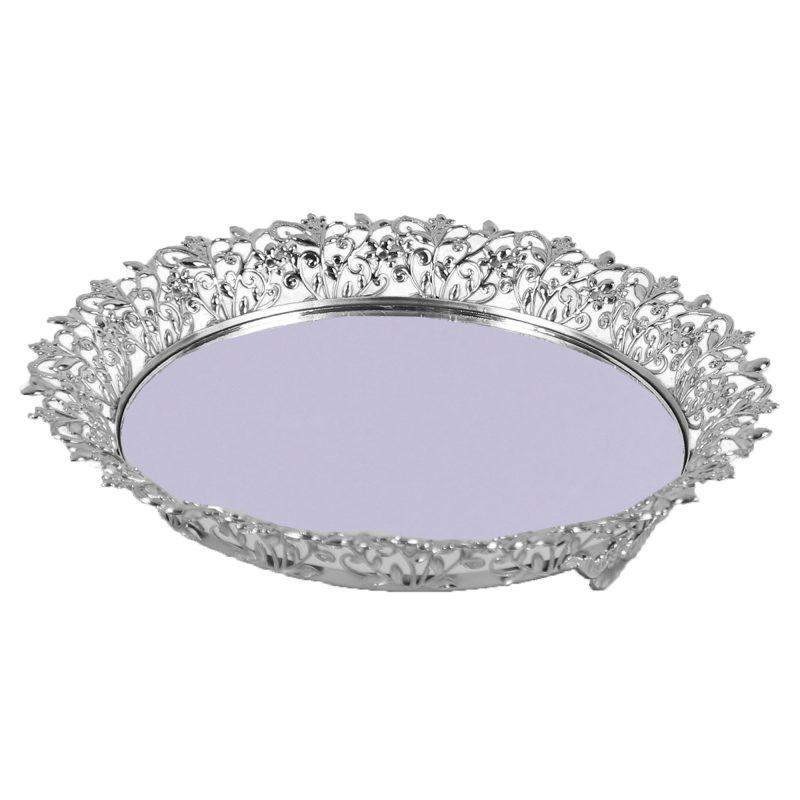 Desen Tepsi Gümüş 25 Cm
