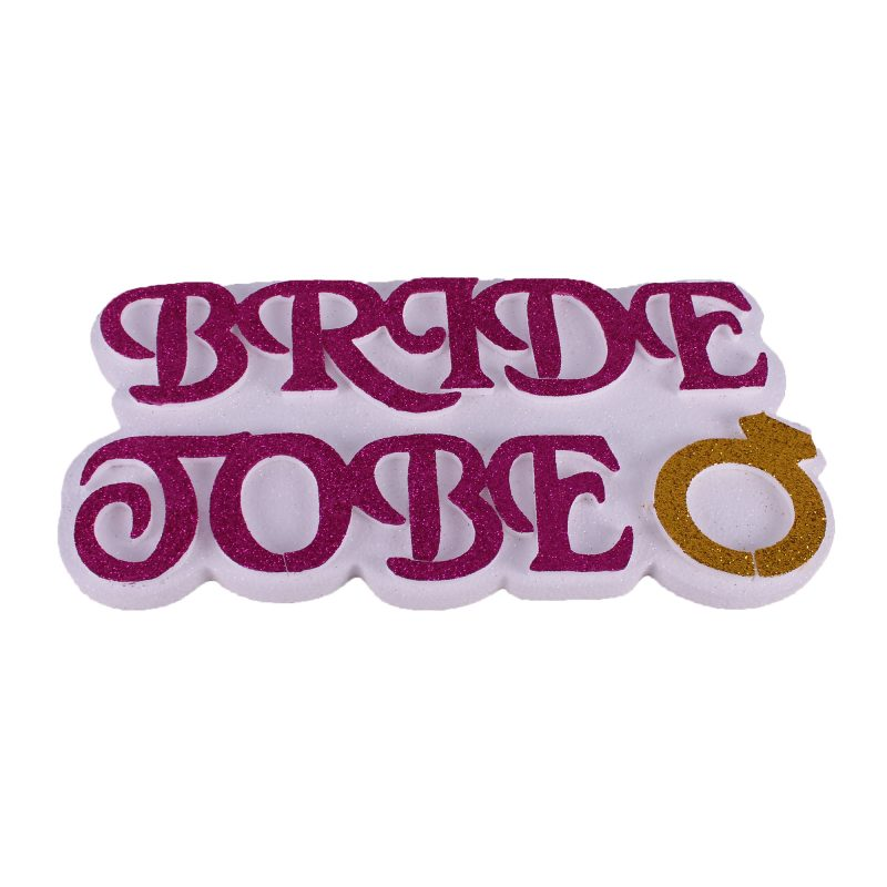 Bride To Be Strafor Kapı Süsü Fuşya